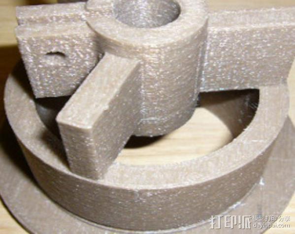 flex轴适配器 3D模型  图3