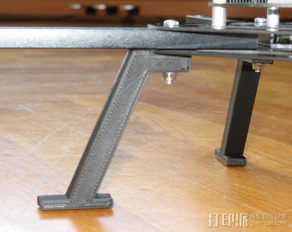 起落滑橇 3D模型  图3