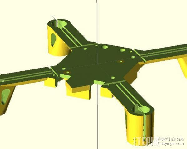 Hubsan x4框架 3D模型  图1
