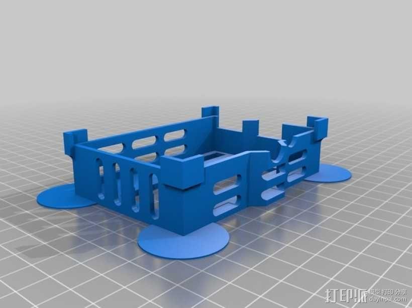 液晶板挡盖 3D模型  图1