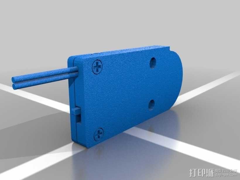 硬币电池夹 3D模型  图2