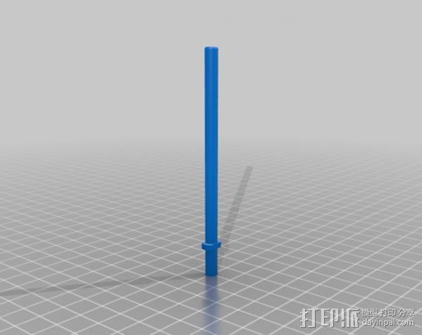 浮动捕鱼杆 3D模型  图2