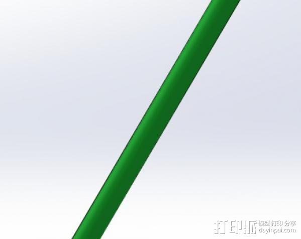 浮动捕鱼杆 3D模型  图5