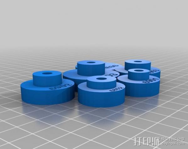 密封轴 3D模型  图3