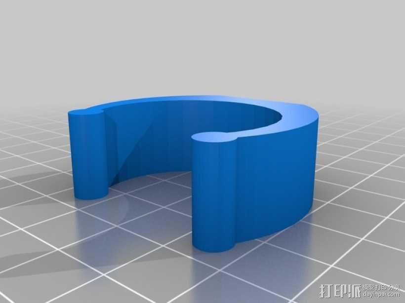 电池管管夹 3D模型  图2