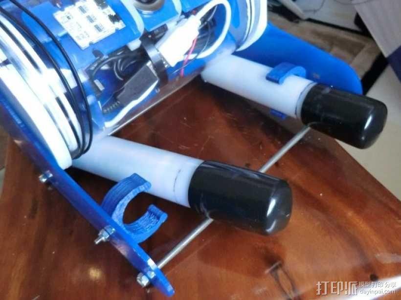 电池管管夹 3D模型  图1