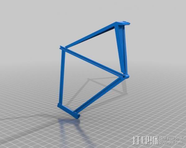 公路自行车架 3D模型  图3