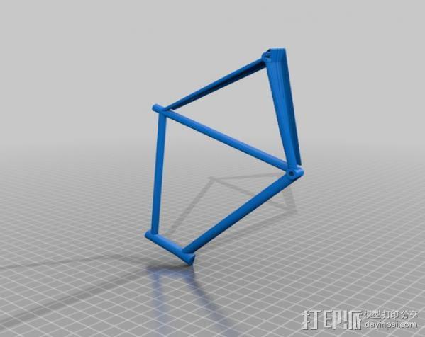 公路自行车架 3D模型  图2