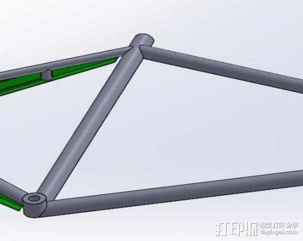 公路自行车架 3D模型  图5