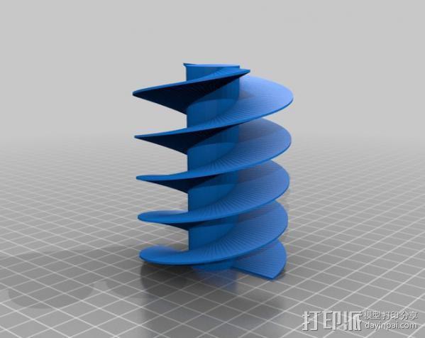 螺旋钻 3D模型  图2
