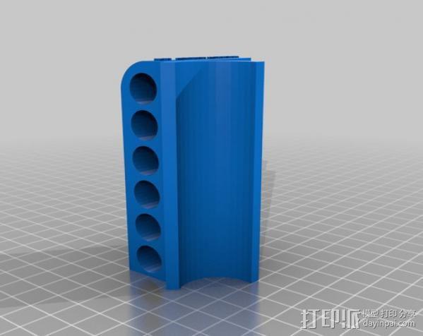 子弹固定壳 3D模型  图2