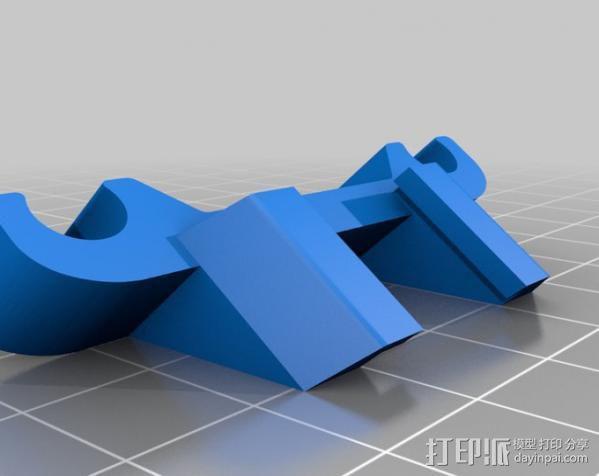 自行车LED灯支架 3D模型  图2