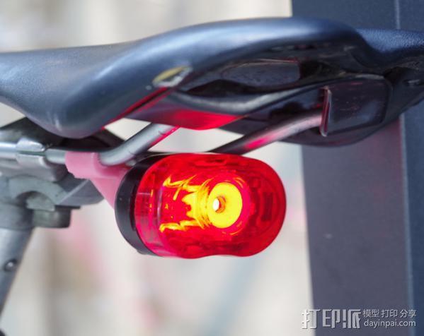 自行车LED灯支架 3D模型  图4