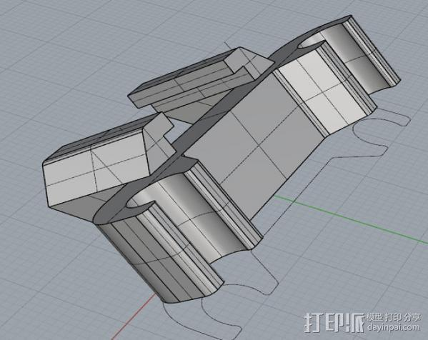 自行车LED灯支架 3D模型  图5