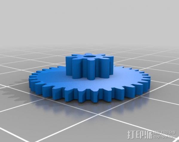 驱动齿轮 3D模型  图3