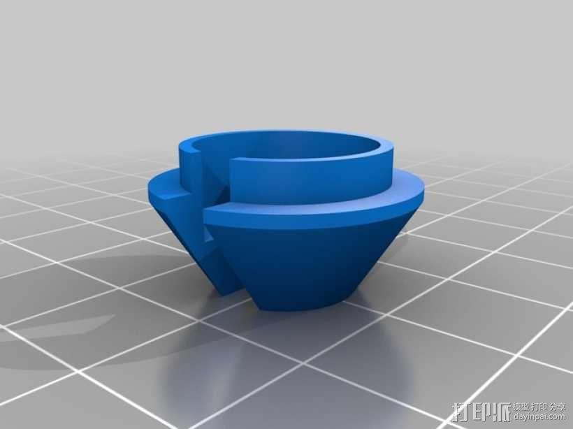 弹簧座接口 3D模型  图1