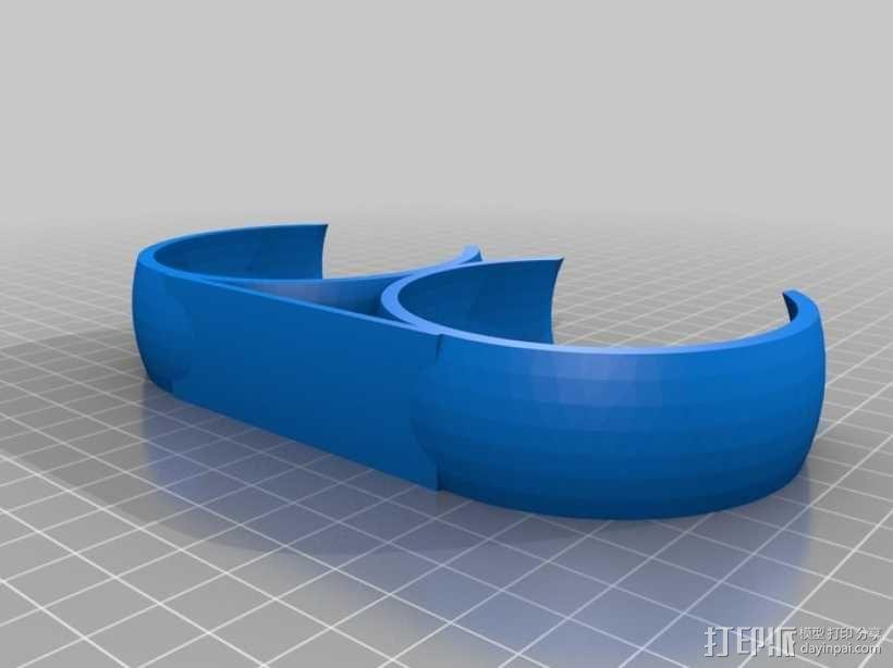 球形置物夹 3D模型  图1
