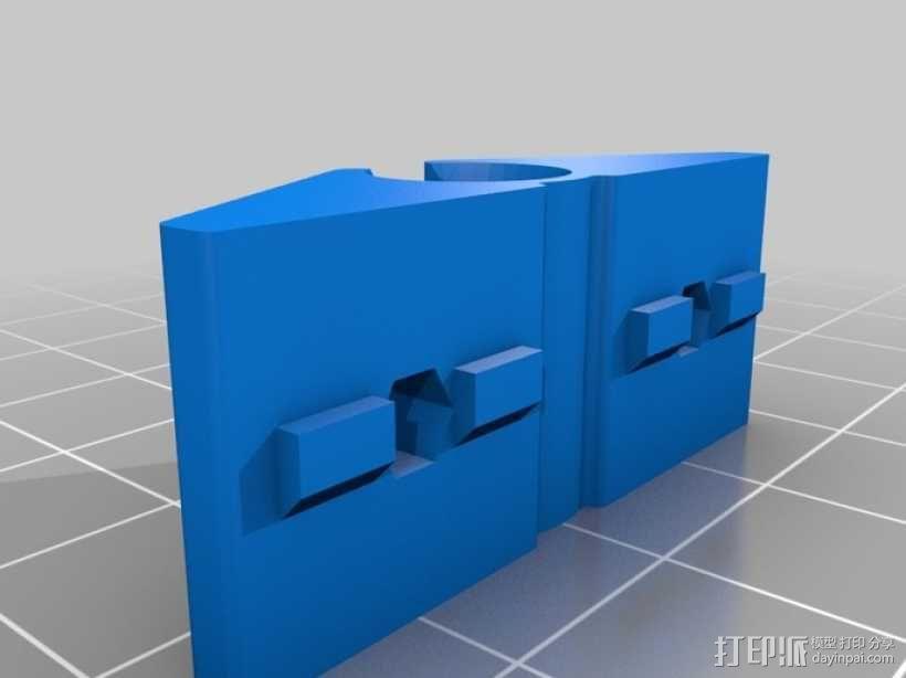 可打印的8mm轴夹 3D模型  图2