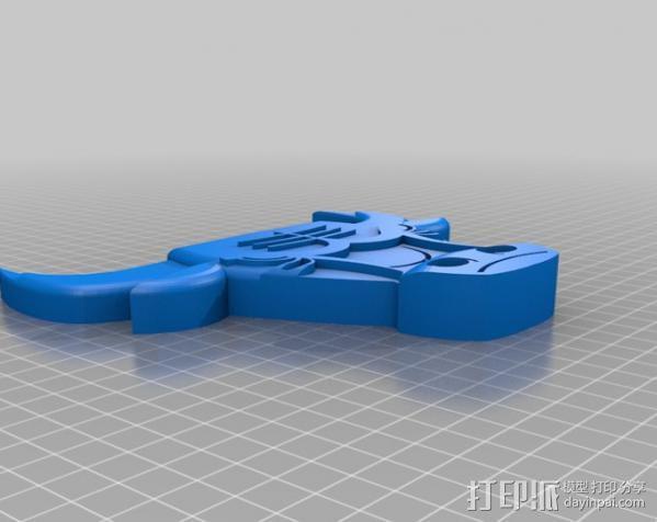 芝加哥公牛队标志 3D模型  图3