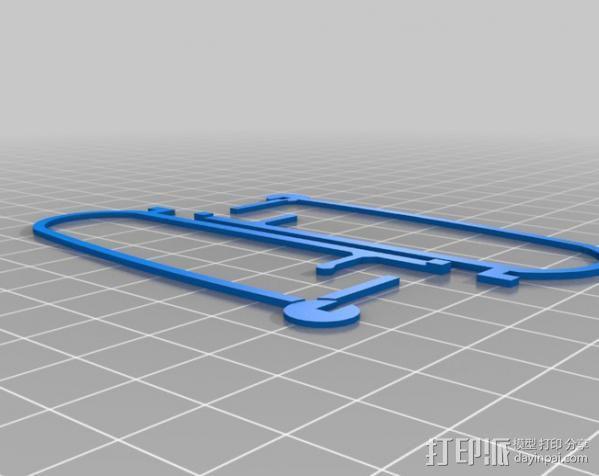 飞行保险杠杆 3D模型  图2