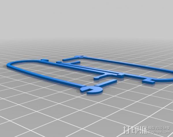 飞行保险杠杆 3D模型  图3