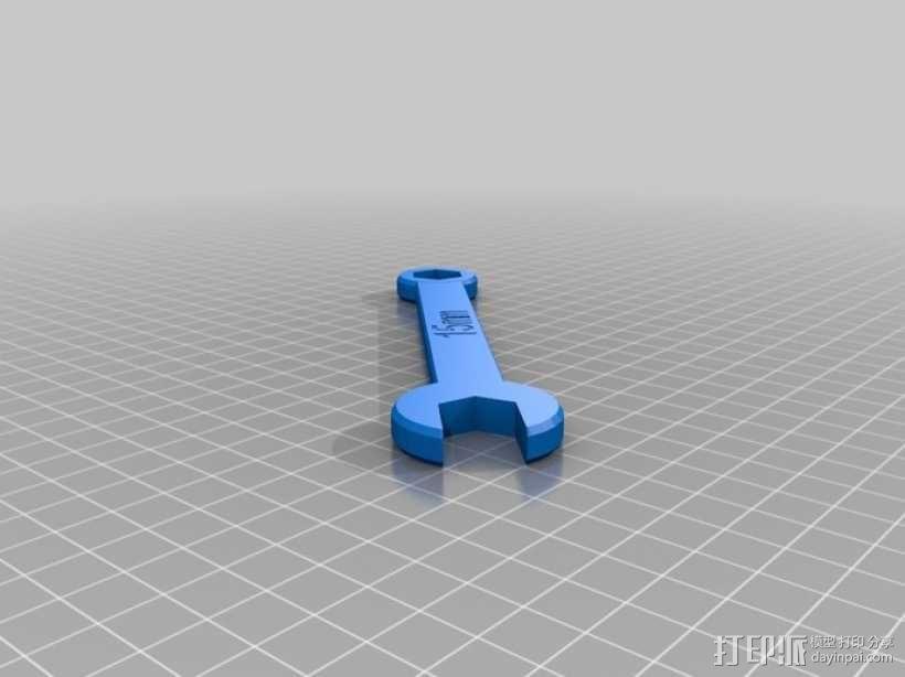 15mm 扳手 3D模型  图1