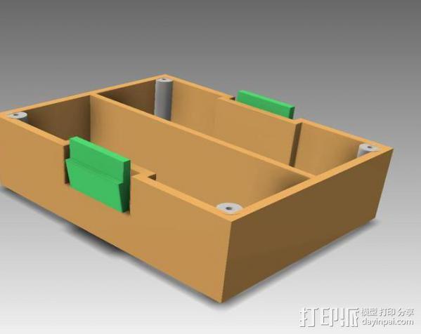 空白频射模块 3D模型  图1