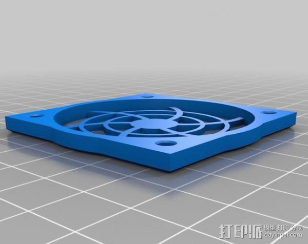 50mm风扇烧烤 3D模型  图1
