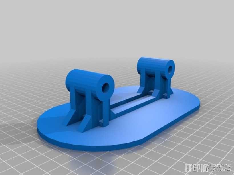 小型滑板 3D模型  图3