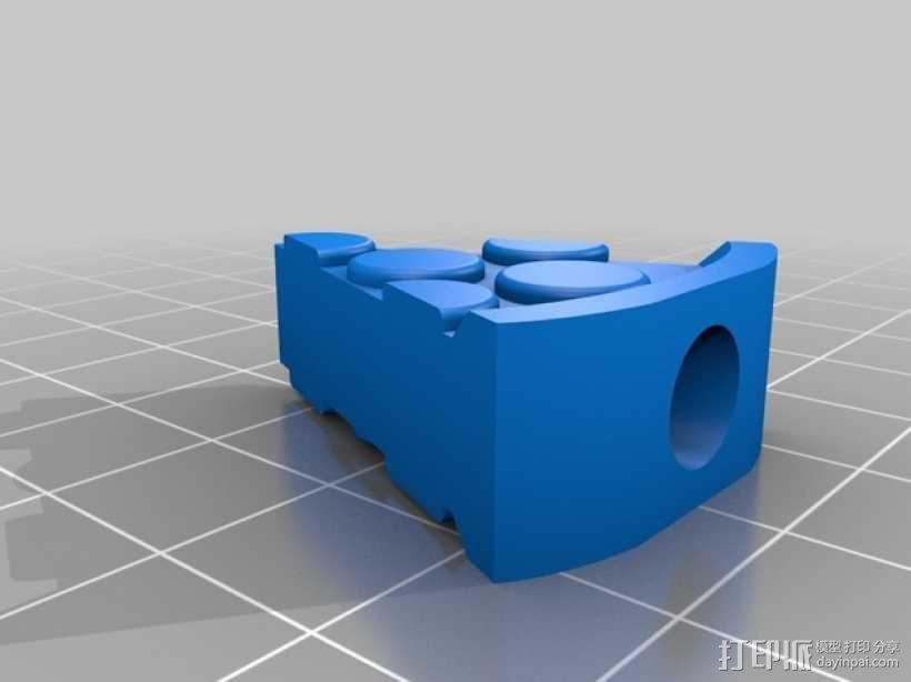 披萨形阀盖 3D模型  图2