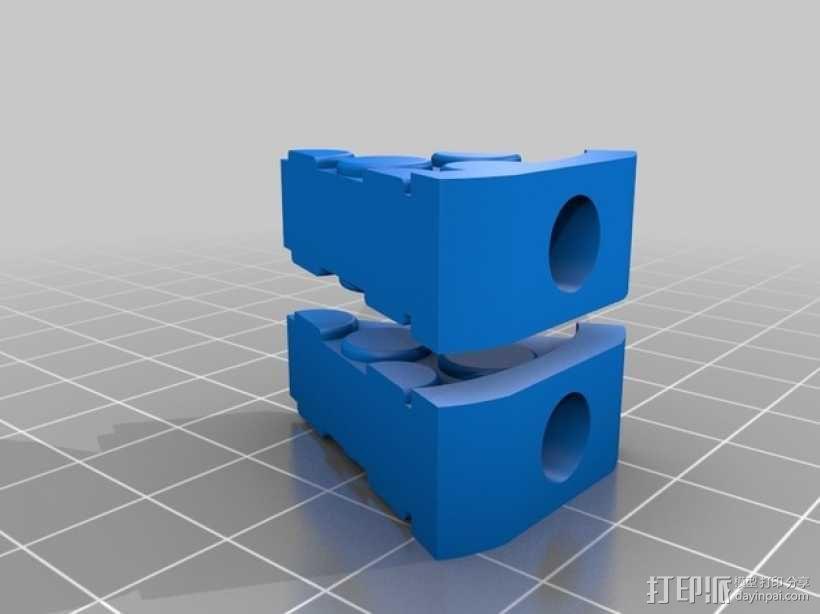 披萨形阀盖 3D模型  图3
