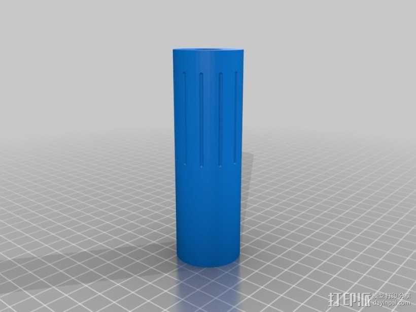 软弹气枪消声器 3D模型  图2