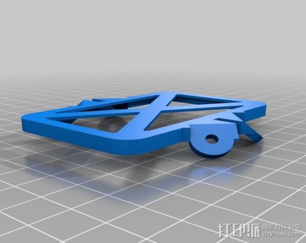 减震安装板 3D模型  图2