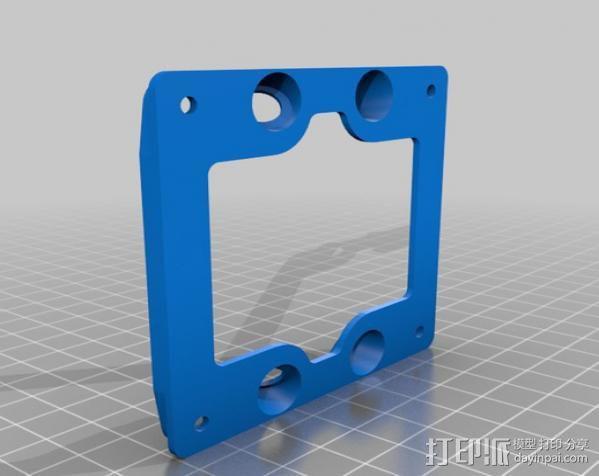 减震安装板 3D模型  图3