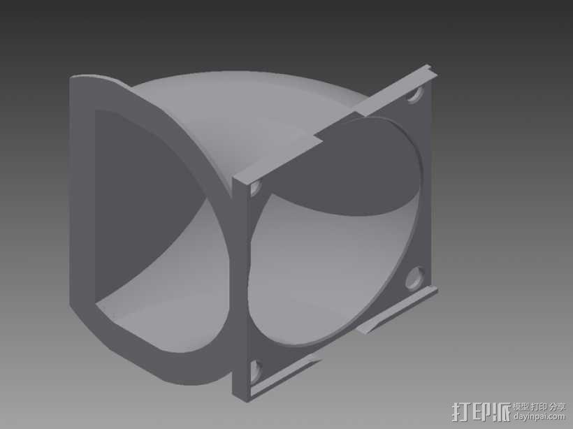 冷风导管 3D模型  图1