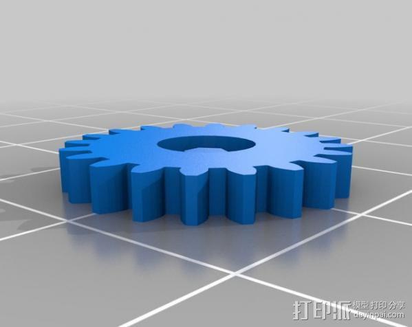 六角螺栓 3D模型  图1