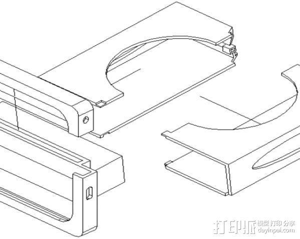 车内置物桌 3D模型  图7