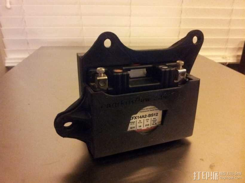电池盒 3D模型  图1