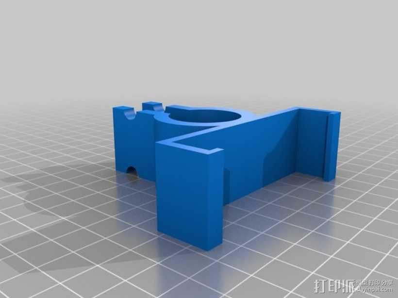自行车手机支架 3D模型  图1