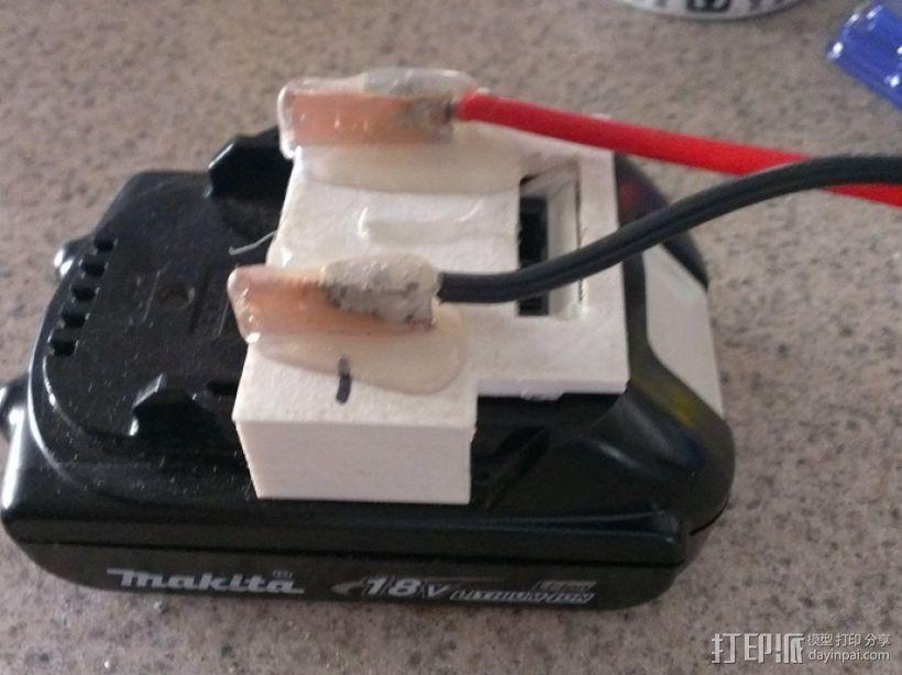 电池夹子 3D模型  图1