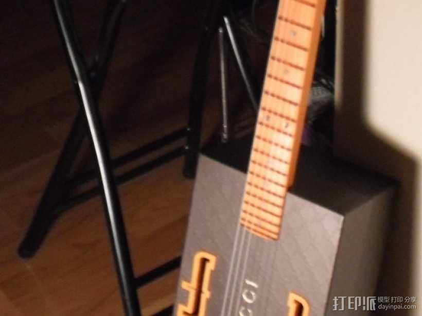 热熔塑料3D打印吉他 3D模型  图1