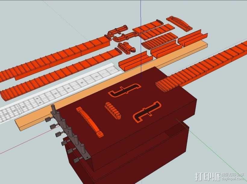 热熔塑料3D打印吉他 3D模型  图2