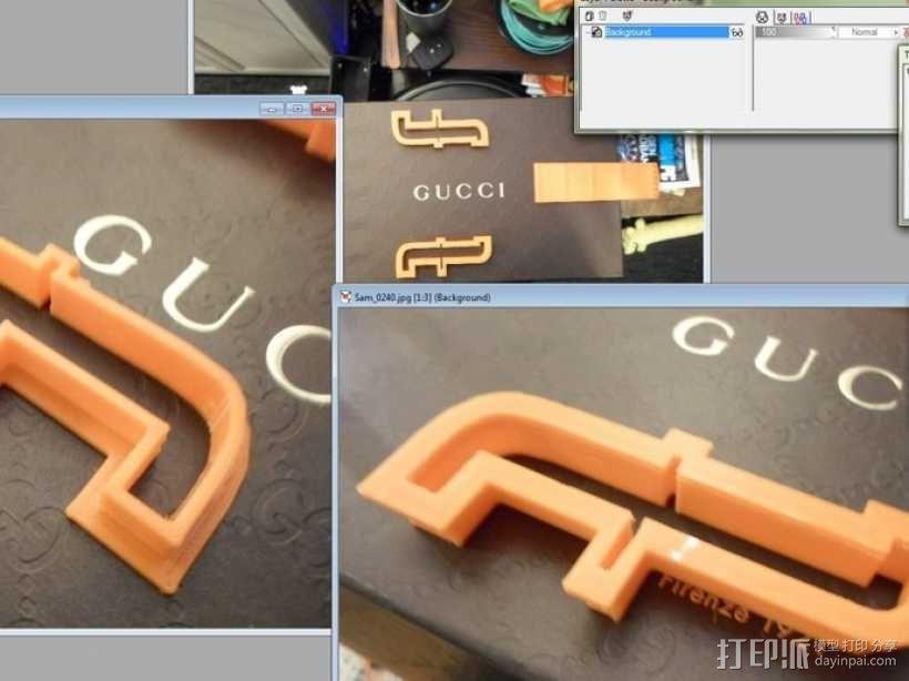 热熔塑料3D打印吉他 3D模型  图4