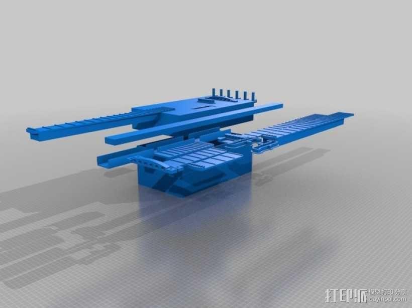 热熔塑料3D打印吉他 3D模型  图3