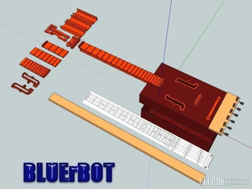 热熔塑料3D打印吉他 3D模型  图6