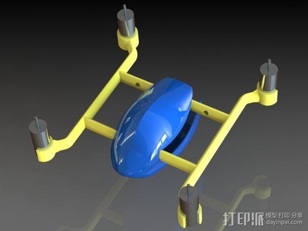 口袋大小的Qwad 3D模型  图1