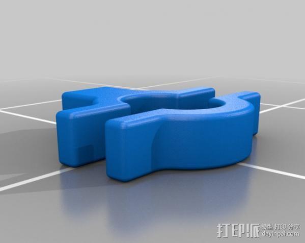 摩托车把手 3D模型  图2