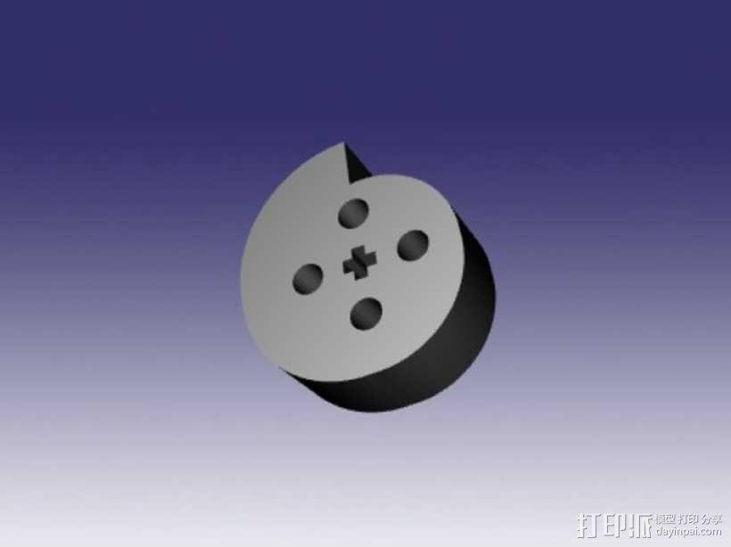 乐高电动阀 3D模型  图3
