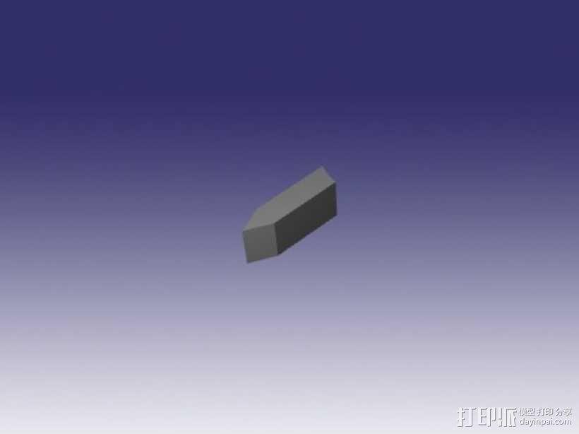 乐高电动阀 3D模型  图4