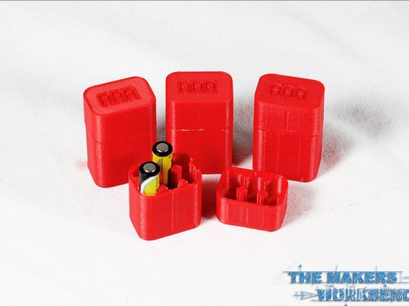 6节AAA电池座 3D模型  图3
